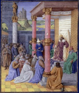 نقاشی از فرمان آزادی یهودیان به دست کوروش بزرگ